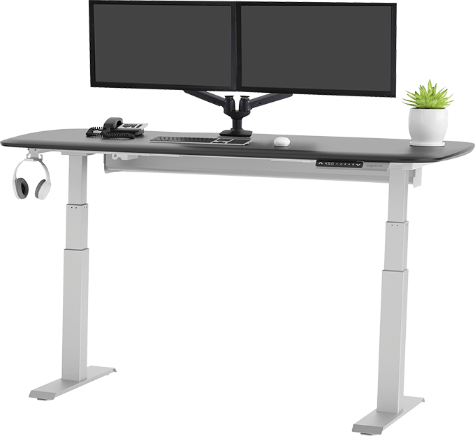 Ergonomic sit to stand desk