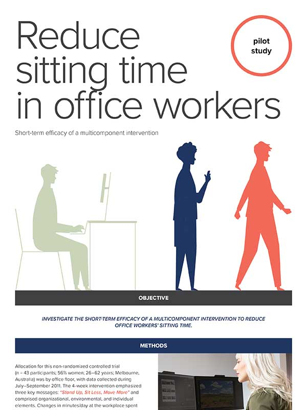Infographic: Reduce Sitting for Office Workers