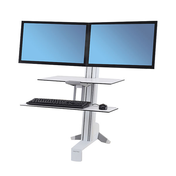 Ergotron WorkFit-S Dual Monitor, White