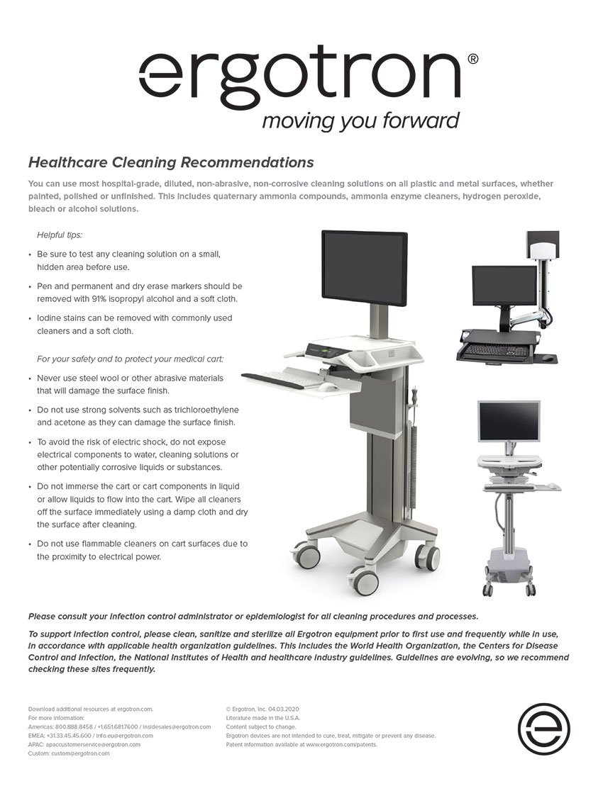 Healthcare Cleaning Recommendations Graphic