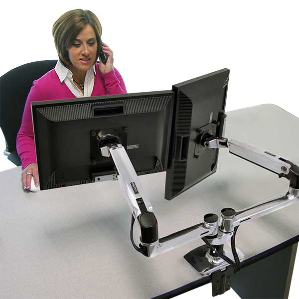 MultiMonitor Mounts Use Multiple Monitors At Your Desk Ergotron