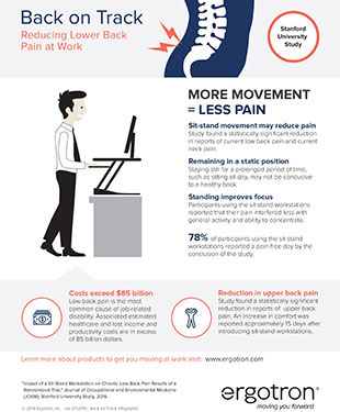 Infographic: Reducing Low Back Pain at Work