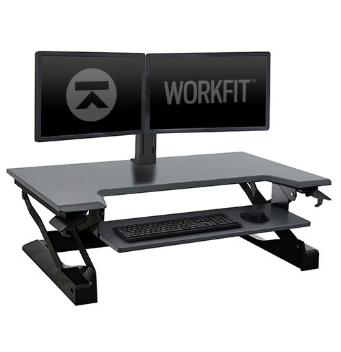 WorkFit-TL with Dual Monitor Kit