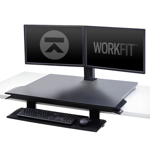 WorkFit-TX with Dual Monitor Kit