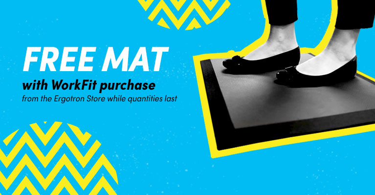 Free mat with WorkFit purchase