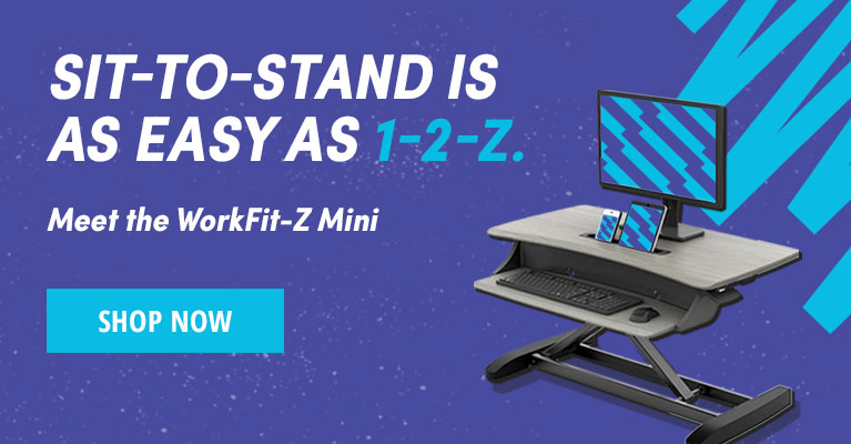 The WorkFit-Z Mini Sit-Stand Desk