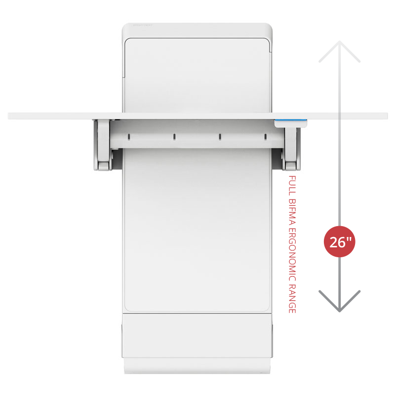 Juv Sit Stand Wall Desk Panel Mount Ergotron Contract Furniture