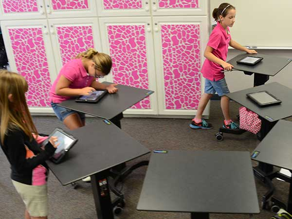LearnFit Desks in use