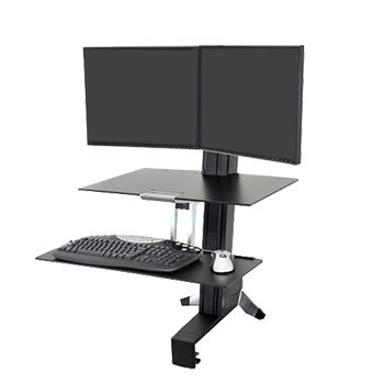 WorkFit-S Dual Monitor Stand Up Desk, Medium