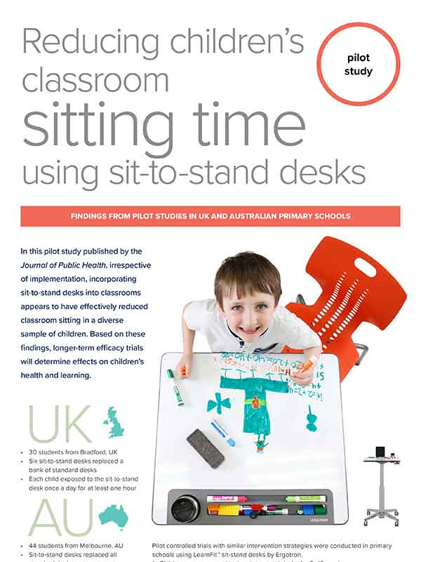 Infographic: Reducing Classroom Sitting Time