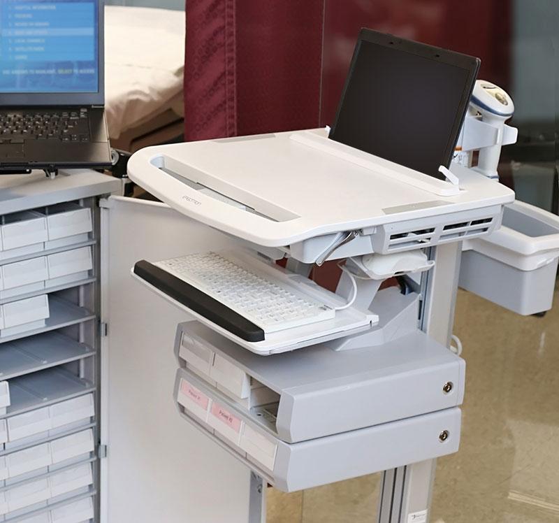 Medical Cart Workstations For Hospitals And Clinics Ergotron